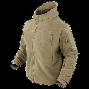 Оригинал Тактическая флисовая куртка Condor SIERRA Hooded Fleece Jacket 605 Small, Койот (Coyote)