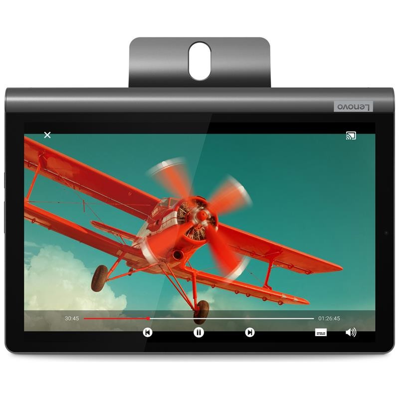 """Планшетный ПК Lenovo Yoga Smart Tab YT-X705L 4/64GB 4G Iron Grey (ZA530006UA); 10.1"""" (1920х1200) IPS / Qualcomm Snapdragon 439 / ОЗУ 4 ГБ / 64 ГБ"""