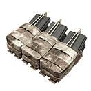 Оригинал Подсумок двойний для AR магазинов карабина молле Condor Triple Stacker M4 Mag Pouch MA44 Чорний, фото 3