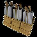 Оригинал Подсумок двойний для AR магазинов карабина молле Condor Triple Stacker M4 Mag Pouch MA44 Чорний, фото 4