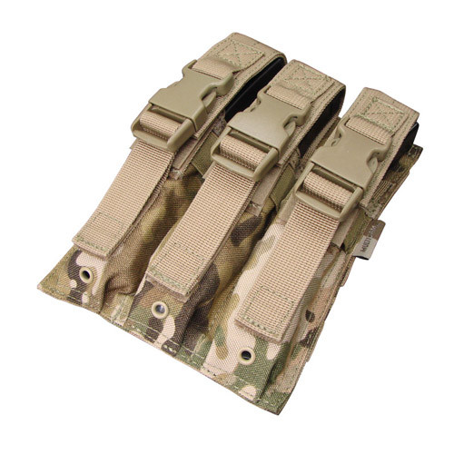 Оригинал Подсумок для магазинов пистолета-пулемета тройний молле Condor MP5 Mag Pouch MA37 Тан (Tan)
