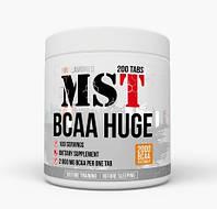 Аминокислота MST Nutrition BCAA HUGE 200 таблеток  100 порций  Производство Германия   2 грамма в одной таблетке