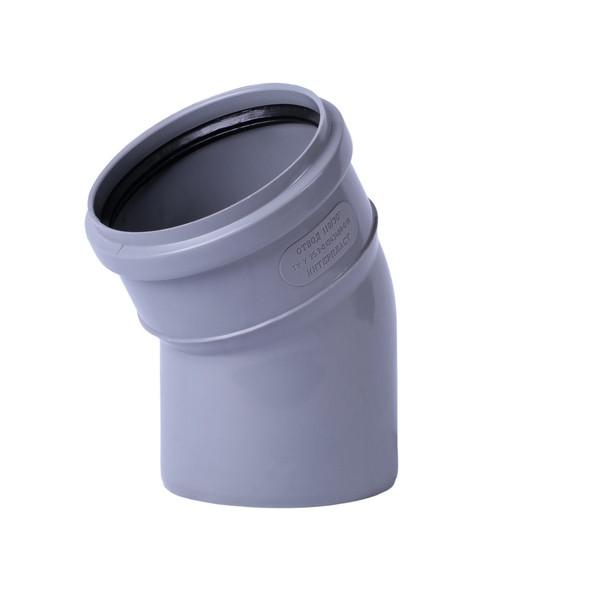 Колено Ø110-110/15° для внутренней канализации Wavin