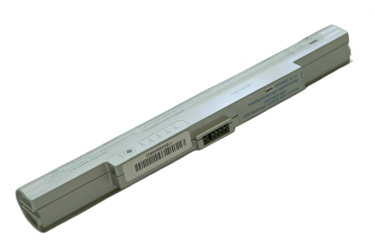 Батарея для ноутбука Samsung Q30 Q40 11.1V 2200mAh, серая (Q30(Silver))