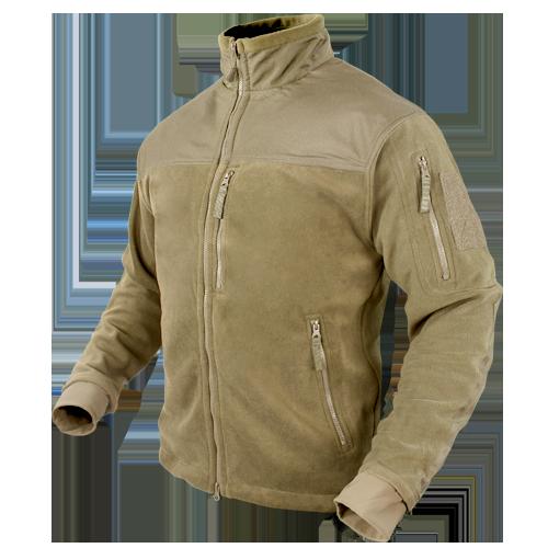 Оригинал Тактическая куртка флисовая Condor ALPHA Mirco Fleece Jacket 601 Small, Чорний