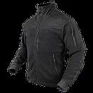 Оригинал Тактическая куртка флисовая Condor ALPHA Mirco Fleece Jacket 601 Small, Чорний, фото 3