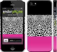 """Чехол на iPhone 5s Шкура леопарда v3 """"2723c-21"""""""