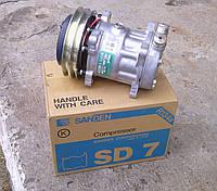 Компрессор кондиционера SD7H15 на CLAAS 625994.0, 625993.2, 7700037805, 00 0625 994 0, 00 0625 993 2.