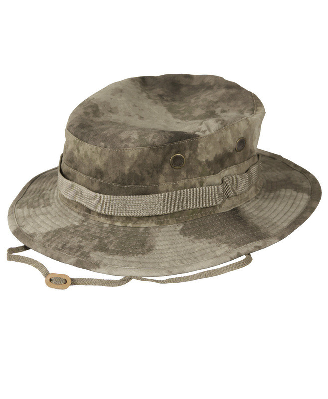 Propper BATTLE RIP® SUN HAT/BOONIE F5502-38-379 65/35 POLY COTTON RIPSTOP 7 3/4, Dig.Conc.Syst. A-TACS AU