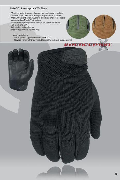 Оригинал Тактические перчатки Damascus Interceptor X™ - Medium Weight duty gloves MX30 X-Large, Чорний