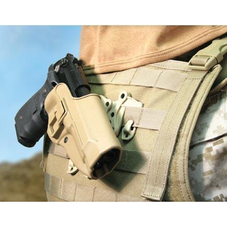 Blackhawk SERPA Strike/Molle holster 40CL01 (Beretta) Койот (Coyote), Ліва