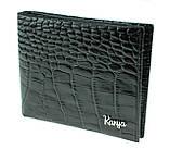 Кошелек зажим для денег Karya 0945-53 кожаный черный, фото 3