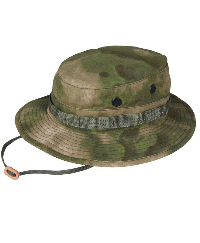 Propper BATTLE RIP® SUN HAT/BOONIE F5502-38-381 65/35 POLY COTTON RIPSTOP 7 1/2, Dig.Conc.Syst. A-TACS FG