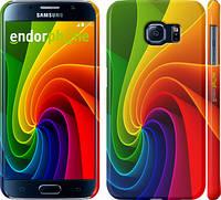 """Чехол на Samsung Galaxy S6 G920 Радужный вихрь """"747c-80"""""""
