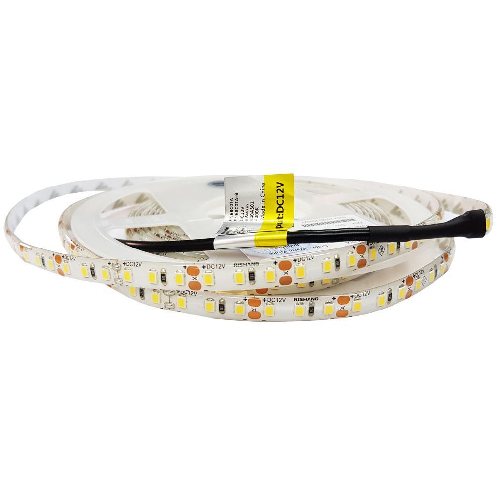 Нейтрально біла світлодіодна 12вольт 8.6Вт 586 лм стрічка 2835-120-IP65-NW-8-12 RN68C0TA-B 7742о