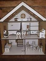 Трьохповерховий будинок для ляльки LOL- Трьохетажный домик для куклы ЛОЛ с мебелью