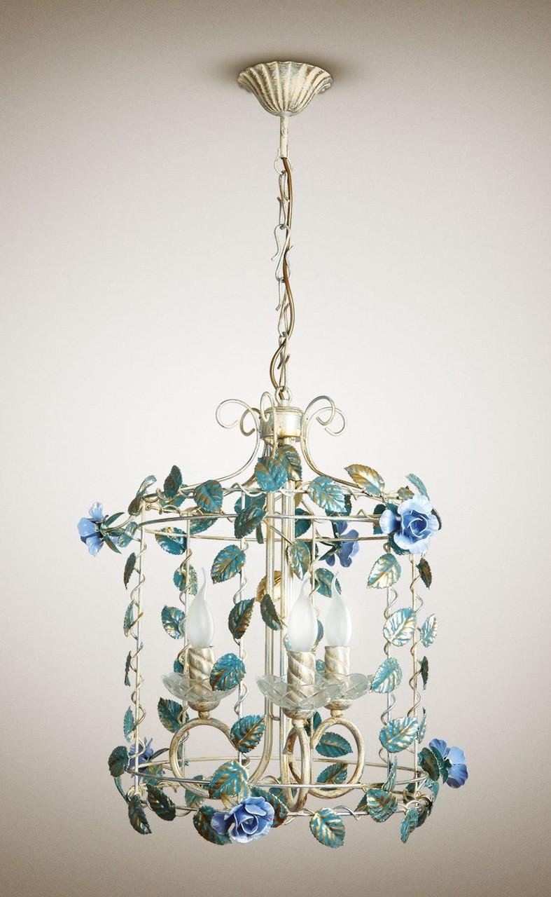 Люстра 4-х ламповая, для спальни, кухни, зимнего сада 17210