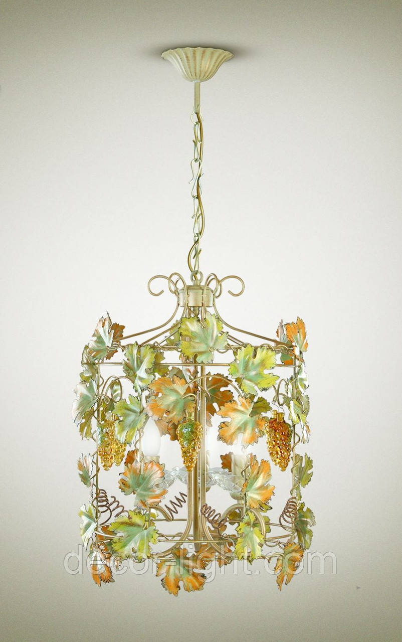Люстра 4-х ламповая, для спальни, кухни, зимнего сада 17212-1