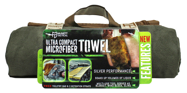 McNett OUTGO Advanced Ultra Compact Microfiber Towel Олива (Olive), Medium