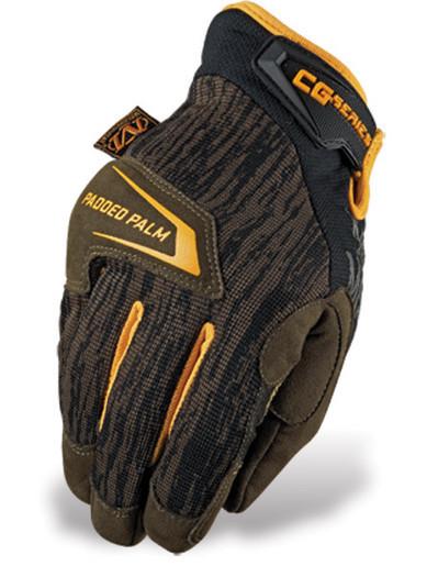 Оригинал Тактические перчатки механикс Mechanix Wear CG4x Padded Palm CG4P-29, Moss Medium, Коричневий