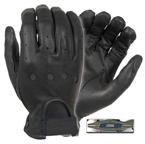 Оригинал Водительские кожанные перчатки Damascus DashPro Premium leather driving gloves D22 Medium, Чорний