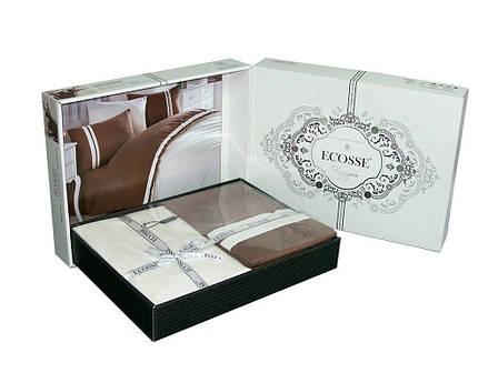 Постельное белье Ecosse Ranforce 200х220 Neron-bordo, фото 2