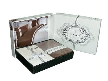 Постельное белье Ecosse Ranforce 160х220 Neron-kahve, фото 2