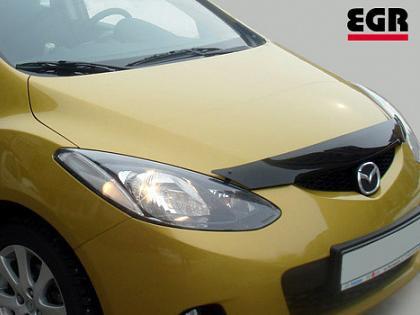 Дефлектор капота ( мухобойка ) Mazda 2 2008-2014