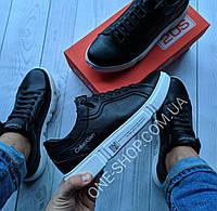 Calvin Klein Р-5 Мужские кожаные кеды (кроссовки,туфли) мужская обувь , натуральная кожа armani philipp plein