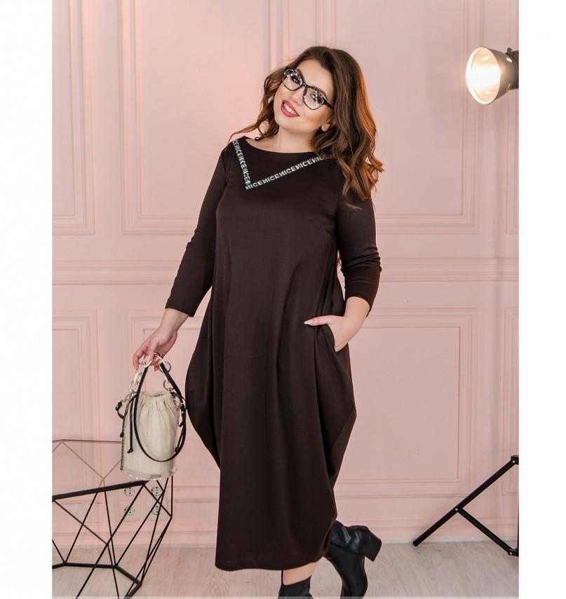 Платье Minova 1114-1-шоколадный