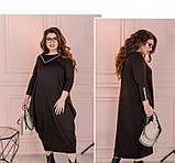 Платье Minova 1114-1-шоколадный, фото 2