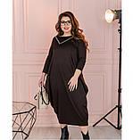 Платье Minova 1114-1-шоколадный, фото 3