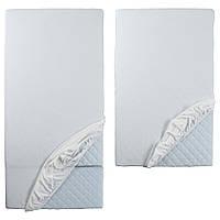 Натяжная простыня IKEA LEN для раздельной кровати 2 шт Белый 802.019.57