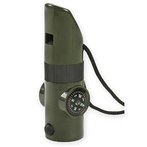 Оригинал Свисток выживания NDUR 7-IN-1 Survival Whistle 23030 Олива (Olive)