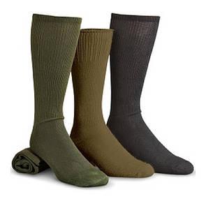 USGI MILITARY ANTI-MICROBIAL BOOT SOCK Small, Coyote Brown