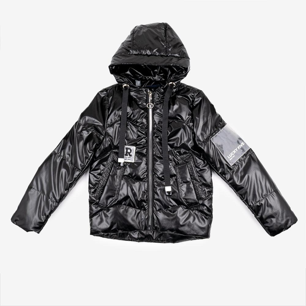Куртка демисезонная для девочек Delfin 146  черный 1905