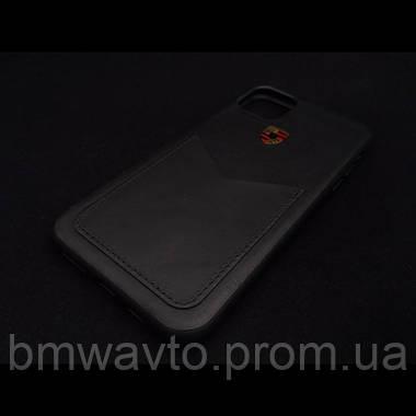 Кожаный чехол Porsche для iPhone 11 Pro, Crest Logo, фото 2