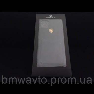 Шкіряний чохол Porsche для iPhone 11 Pro, Crest Logo, фото 3