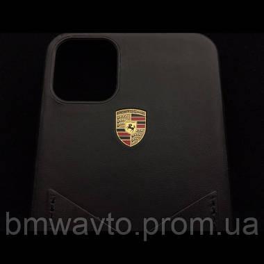 Кожаный чехол Porsche для iPhone 11 Pro, Crest Logo, фото 3