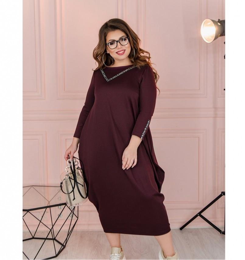 Платье Minova 1114-1-сливовый