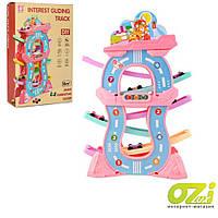 Детский развивающий трек Huabiao toys F4 розовый