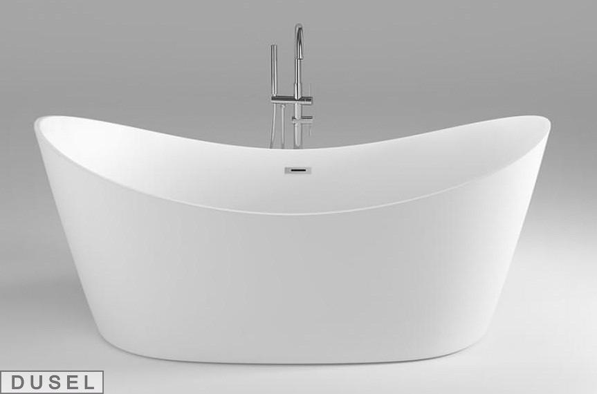 Отдельностоящая акриловая ванна с ножками Dusel DU104, 1800x800х720 мм