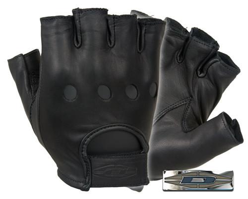 Оригинал Водительские кожанные перчатки безпалые Damascus DashPro Premium leather driving gloves D22S (Half Finger) XX-Large, Чорний
