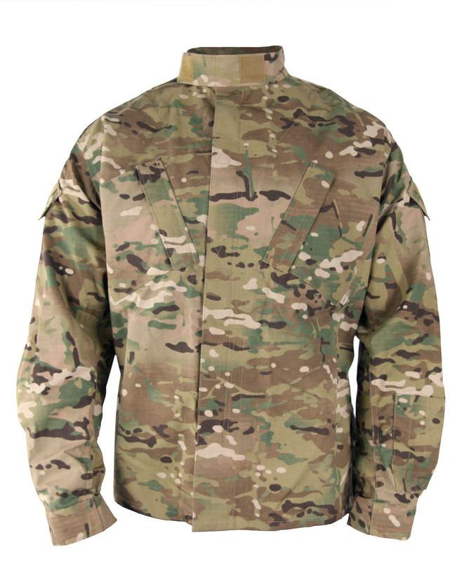USGI Defender M FR ACU COMBAT COAT Multicam, 65/25/10 Rayon/Para-Aramid/Nylon (негорюче/вогнетривке) Large Long, Crye Precision MULTICAM