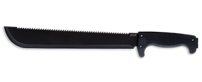 SOG SOGFARI MACHETE 13 BLACK POWDER COAT / MACHETE / STRAIGHT - SAW BACK MC01-N