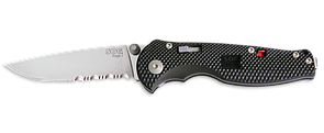 Оригинал EDC нож SOG FLASH I Satin / Drop Point / Partially Serrated FSA97-CP