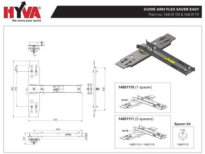 Поворотный механизм Hyva (поворотная муфта) для шлангов