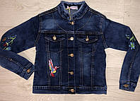 Джинсовая куртка для девочек оптом, Seagull, 6-16 лет, арт. CSQ-1706, фото 1