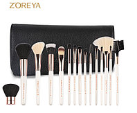 Профессиональный набор кистей для макияжа 15шт ZOREYA Brush Set