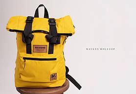 Рюкзак «Mavens Rolltop» для ручной клади Wizz Air (40х30х20) | Ryanair (40х20х25) Цвет желтый